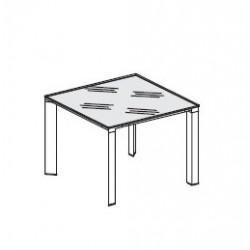Tavolo riunioni in vetro retrolaccato dim. cm 100x100x74,5h