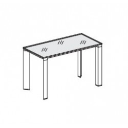 Tavolino in vetro retrolaccato dim. cm 120x60x74,5h Serie VERTIGO