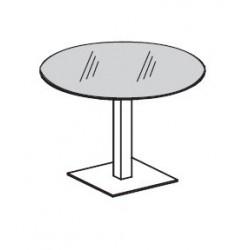Tavolo riunioni tondo in vetro diam. cm 100x74,5h