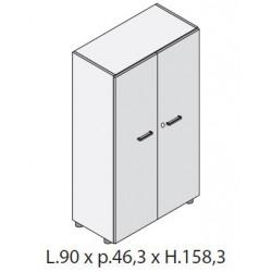 Mobile medio con 2 ante in legno L.90 cm