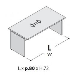 Scrivania per bancone lungh. cm 120-140-160-180