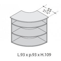 Angolo interno bancone 90° dim. cm 93x93x109h