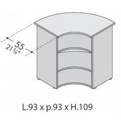 Angolo esterno bancone 90° dim. cm 93x93x109h