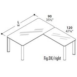 scrivania allungo dx o sx