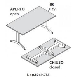 Tavoli con gambe pieghevoli prof cm 80