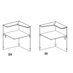 Modulo bancone terminale 90° DX o SX cm 84x85x112,5h
