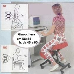 SEDIA ERGONOMICA SU RUOTE - GINOCCHIERA