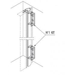 Kit 2 staffe per connessione a muro