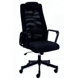 Poltrona direzionale con schienale alto in rete- Comfort