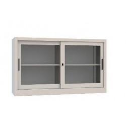 Sopralzo/armadio metallico cm 120x45x85h a vetri scorrevoli