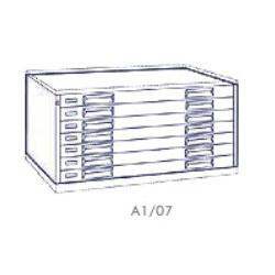 Portadisegni orizzontale a 7 cassetti formato A1 - 115x79x57h