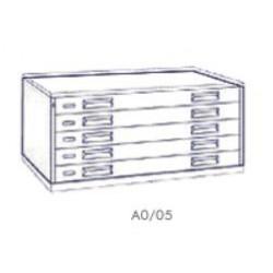 Portadisegni orizzontale a 5 cassetti formato A0 - 137x95x57h