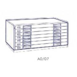Portadisegni orizzontale a 7 cassetti formato A0 - 137x95x57h