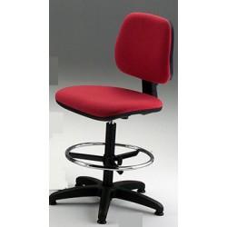 Sgabello girevole con sedile e schienale imbottiti