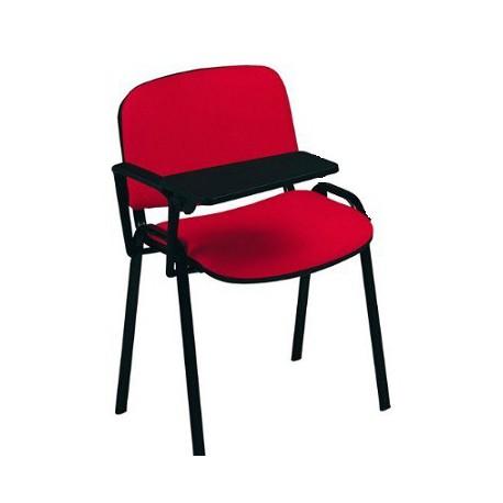 Sedia fissa con 1 bracciolo + tavoletta
