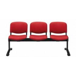 Panca d'attesa a 2 posti - sedile e schienale imbottiti