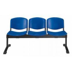Panca d'attesa a 2 posti - sedile e schienale in polipropilene