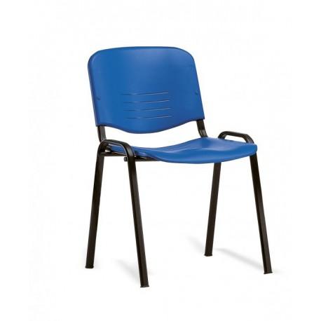 Sedia fissa con sedile e schienale in polipropilene - senza braccioli