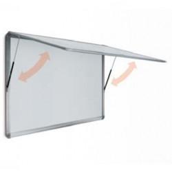 Bacheca con anta battente in plexiglass trasparente