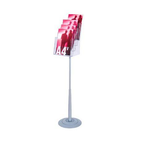 Espositore porta depliant con 4 tasche A4 - Mod.SPILLO A4
